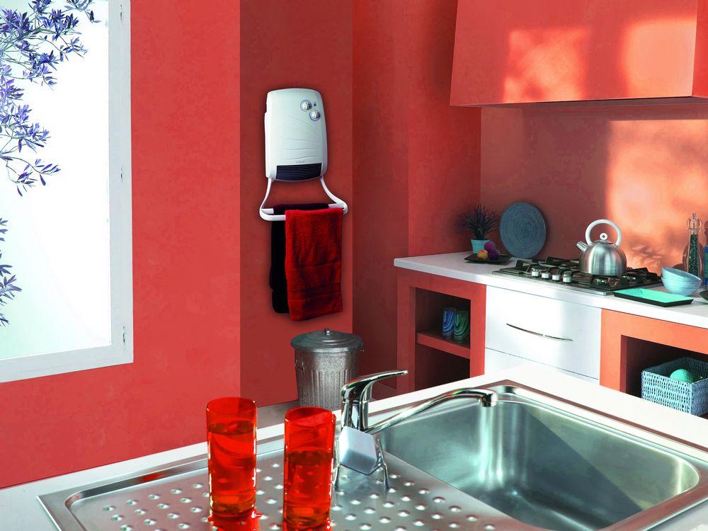 Grzejnik z dmuchawą do łazienki lub kuchni