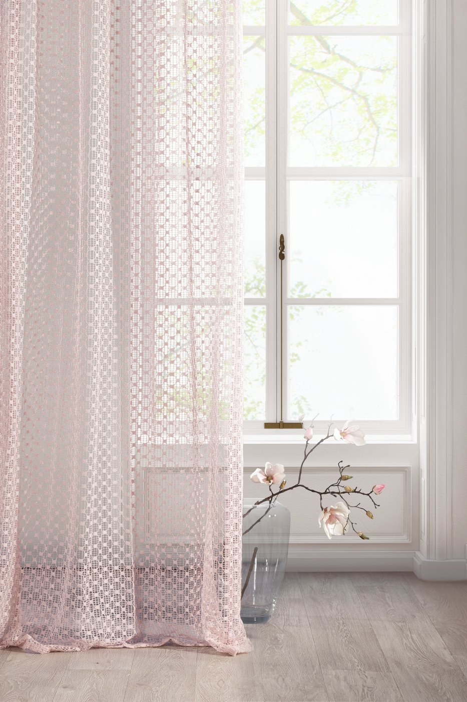 Pastelowa kolorystyka, subtelne zdobienia i przyjemne w dotyku tkaniny