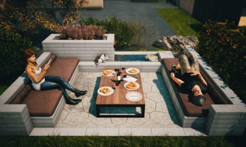 Niesztampowe pomysły na strefę relaksu w ogrodzie –  Meble ogrodowe z betonowych prefabrykatów.