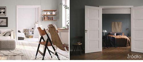 Dekoracyjna magia pokoju za otwartymi drzwiami