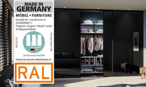 """Certyfikat """"Furniture. Made in Germany"""" gwarantem jakości produktów marki Raumplus"""